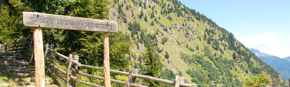 Der Meraner Höhenweg - Beliebter Wanderweg des Alpenraums
