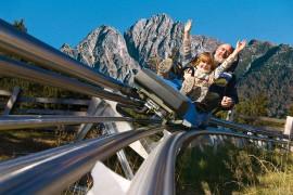 Schienenrodelbahn Alpin Bob auf Meran 2000
