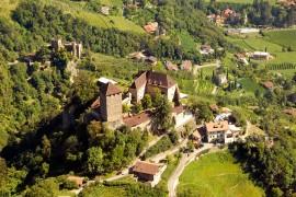 Greifvogelflugschau im Schloss Tirol oberhalb Meran